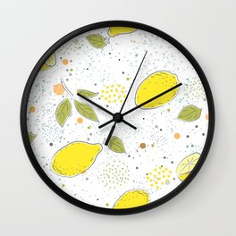 Juicy Lemons Wall Clock