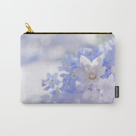 Queen and court- Springflowers in blue and white - Stilllife Carry-All Pouch