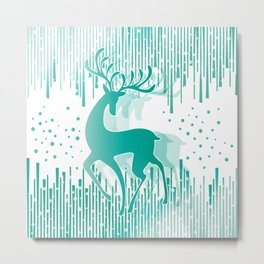 Dancing Deer Metal Print