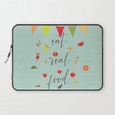eat real food Laptop Sleeve