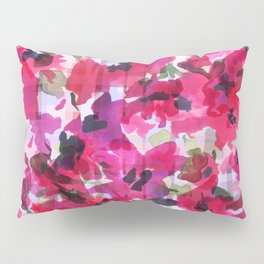 Red Poppy Plaid Pillow Sham