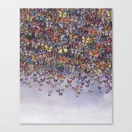 butterfly cascade Canvas Print