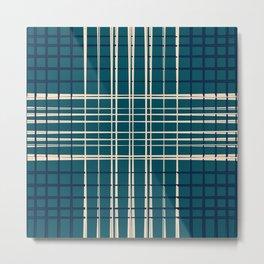 Blue & Neutral Weave I Metal Print