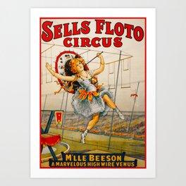 Vintage Sells Floto Circus Ad Art Print