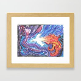 BirdFire Framed Art Print