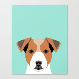 Bailey - Jack Russell Terrier phone case art print gift for dog people Jack Russell Terrier owners Canvas Print