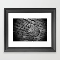 Man circle Framed Art Print