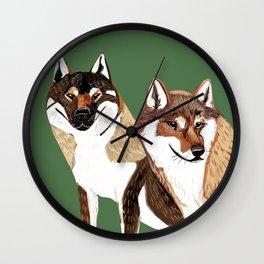 Shikoku Inu Wall Clock