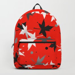 Forever Autumn Leaves red 5 Backpack