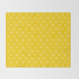 Yellow Gamer Pattern Throw Blanket
