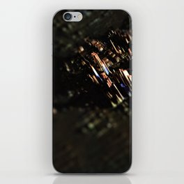 Abstract cityscape aerial view technology background iPhone Skin