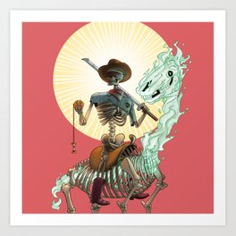 The Bone Ranger Art Print
