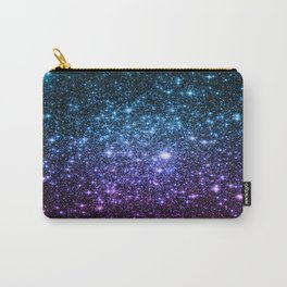 Galaxy Stars : Teal Violet Pink Ombre Carry-All Pouch