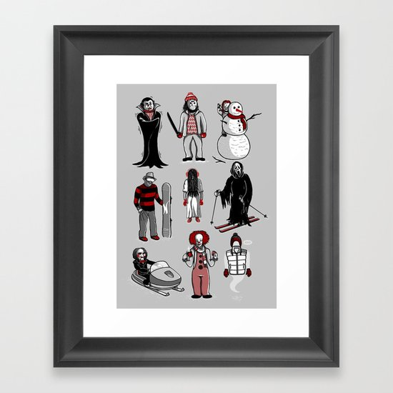 Horror lives winter Framed Art Print