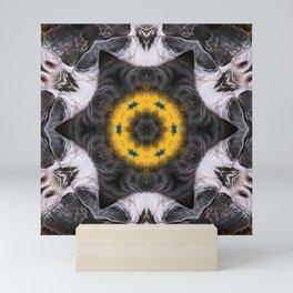 Our Feathered Friends Series | Parrot 6 geometric art Mini Art Print