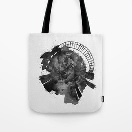 Sydney, Australia Black and White Skyround / Skyline Watercolor Painting Tote Bag