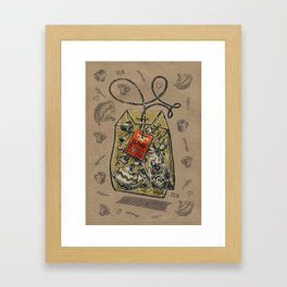 Tea bag Framed Art Print