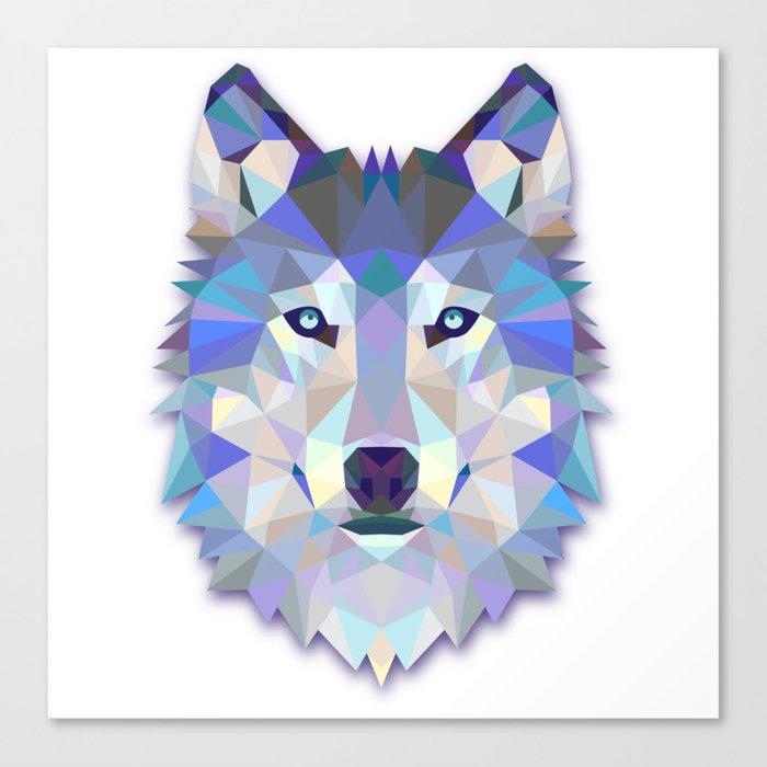 Colorful Wolf Leinwanddruck