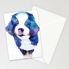Watercolored puppy Stationery Cards