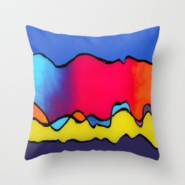 CALIFORNIA WAVE Throw Pillow
