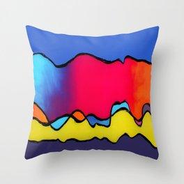 CALIFORNIA WAVE Throw Pillow