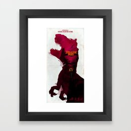 Inspired Movie Poster #2: Jurassic Park (1993) Framed Art Print