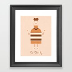 Le Ouisky Framed Art Print