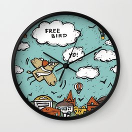 Free bird Wall Clock