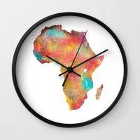africa Wall Clocks featuring Africa by jbjart