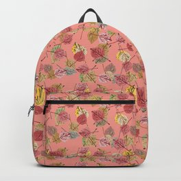 Blooming Dahlia Falling Leaves in Winter Color Trends Backpack