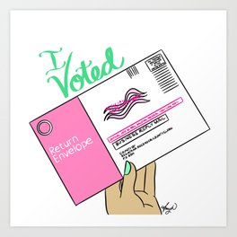 I Voted Art Print