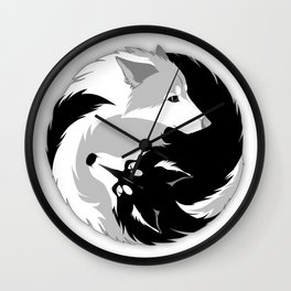Husky love Wall Clock