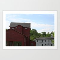 vermont Art Prints featuring Vermont by Yellow Barn Studio