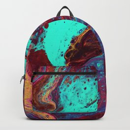 Burgundy Geo Cells Backpack
