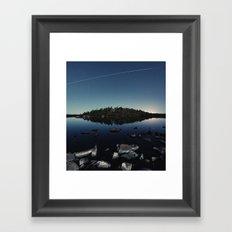 Orbital Symmetry Framed Art Print