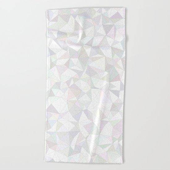 White triangle mosaic Beach Towel