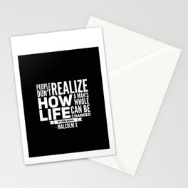 Malcolm X One Book Stationery Cards