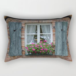 Window and Flowers Rectangular Pillow