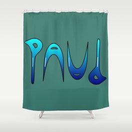Paul (Ambigram) Namendreher Shower Curtain