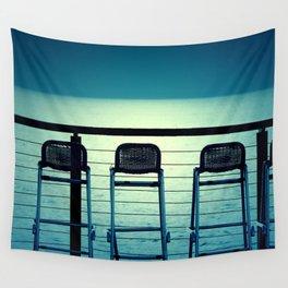 Blue Bar Stools Wall Tapestry