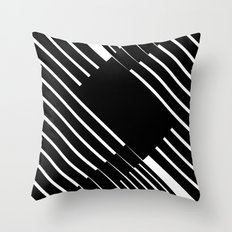 Black and white lines Throw Pillow