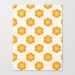 4 Sho - 70's retro 1970's throwback pattern floral flower motif decor hipster Canvas Print