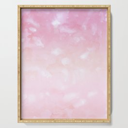 Touching Pink Coral Abstract Painting #1 #ink #decor #art #society6 Serving Tray