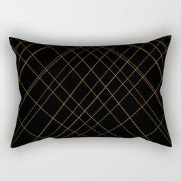 golden lines Rectangular Pillow