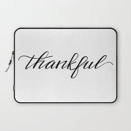 Thankful Calligraphy Laptop Sleeve