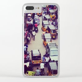 Crowded Indian Street - Streets of India Clear iPhone Case