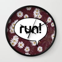 run Wall Clocks featuring run by Mimy
