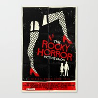 rocky horror picture show Canvas Prints featuring Rocky Horror Picture Show  by Mark Welser