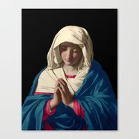 madonna Canvas Prints featuring Madonna by A Samuel