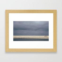Dark Icelandic Road Framed Art Print